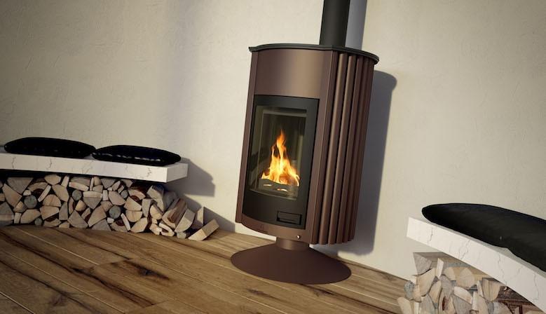 Печка на дърва MASTERFLAMME Piccolo II, 7 kW, на постамент