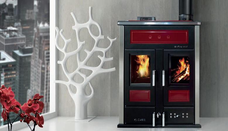 Комбинирана печка на дърва и пелети BI-FIRE MID